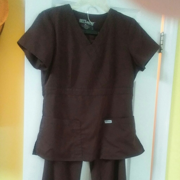 Greys Anatomy Other Greys Anatomy Scrubs Brown Poshmark